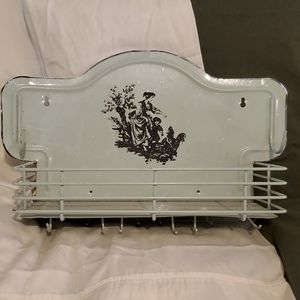 Vintage Floating Tin Shelf